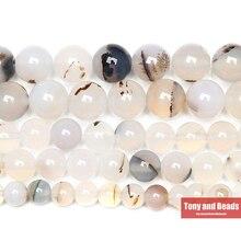 """Натуральный камень Сардоникс белый Агаты круглые бусины 1"""" нить 4 6 8 10 12 мм выбрать размер для ювелирных изделий"""