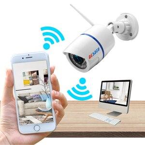 Image 3 - BESDER אודיו 720P 1080P Wifi Ip CCTV מצלמה חיצונית מעקב לבן Waterptoof Onvif אלחוטי מצלמה עם כרטיס SD חריץ CamHi