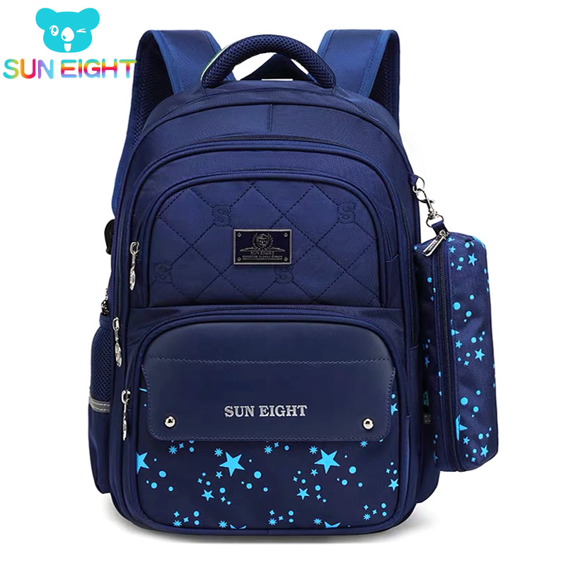 cc721a7500 SUN EIGHT 2019 New Arrival School Bags For Girl boy Children Backpack  Healthy Nylon Girls