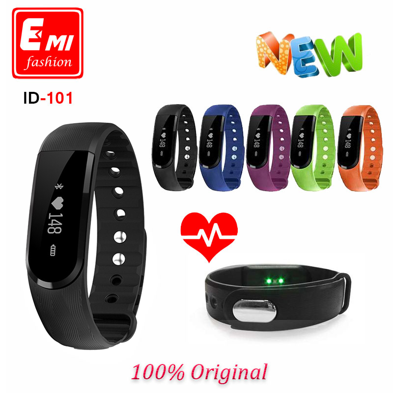 ID101 smartband Fitness Bracelet Tracker Smart Wristband Activity Bluetooth Hear