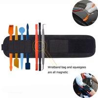EHDIS 8 stücke Vinyl Auto Verpackung Magnetische Rakel Kit + Magnet Armband Werkzeug Tasche Carbon Film Auto Auto Aufkleber Wrap fenster Tönung Werkzeug