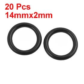 uxcell 20 Pcs Black 16mm x 1.9mm Oil Resistant Sealing Ring O-shape NBR Rubber Grommet