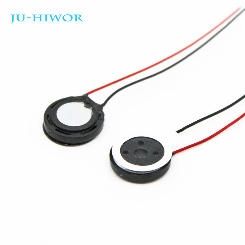 20pcs Acoustic <font><b>Speaker</b></font> F13 13MM Round Tablet Phone MP3 <font><b>Speaker</b></font> <font><b>1W</b></font> <font><b>8</b></font> <font><b>Ohms</b></font> Thickness 3.5MM With Wires Super image