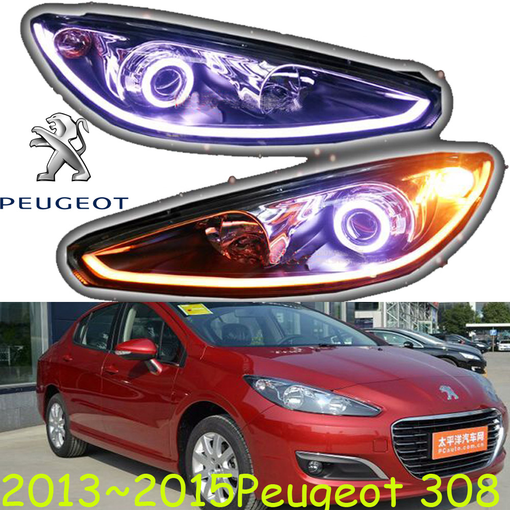 2013~2015 Peugeo 308 headlight,308,Fit for LHD and RHD,Free ship! 308 fog light,2ps/set+2pcs Aozoom Ballast; Peugeo308