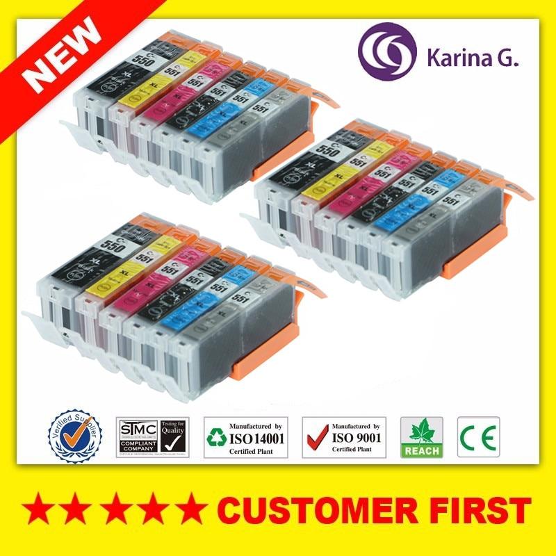 Чернильный картридж для Canon, 18 шт., чернильный картридж для CANON MG6350, MG7150, iP8750, MG7550, принтер с чипом full ink GY