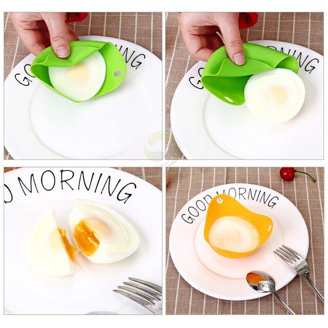 2 sztuk/partia jajo silikonowe kłusownik kłusownictwo strąki jaj formy miska pierścienie kuchenka kocioł Cuit Oeuf Dur kuchnia narzędzia kuchenne naleśnikarka