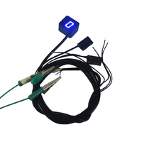 Motorcycle LED Digital Gear Indicator Car Styling For Motorcycle Light Neutral Display Shift Lever Sensor Bule