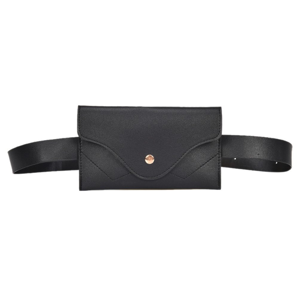 Simple Classic Women PU Leather Waist Pack Pouch Pure Color Purse Casual Belt Bag Fashion Female Vintage Fanny Pack Wallet Purse