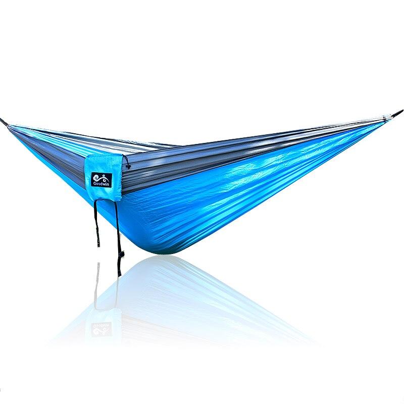 Hangmat 300 Cm.Blauw Grijs Hangmat Outdoor Dubbele Hangmat 300 200 Cm Big Size
