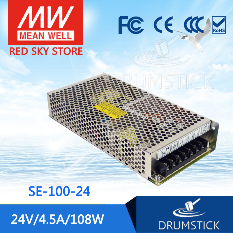 Selling Hot MEAN WELL SE-100-24 24V 4.5A meanwell SE-100 24V 108W Single Output Switching Power Supply best selling mean well se 200 15 15v 14a meanwell se 200 15v 210w single output switching power supply