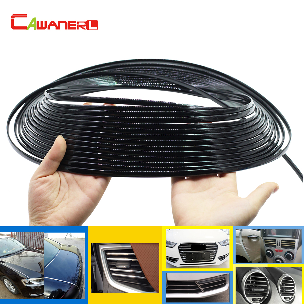 Cawanerl 1000CM Car Decorator Chrome Trim Door Bumper Grille Air Conditioner Outlet Vent Decoration Strip Sticker Car Styling grille