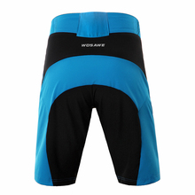 WOSAWE Moutain Bike 3D Padded Cycling Shorts Shockproof MTB Road Bike Shorts Blue Bicycle Shorts Quick Dry
