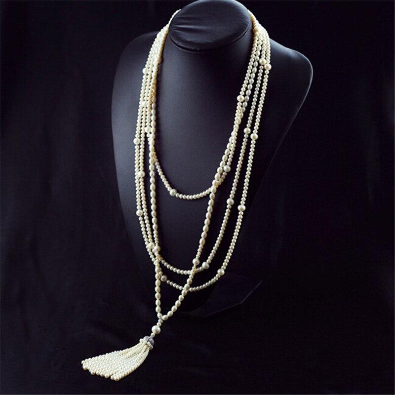 RUNZHUQIYUAN 2017 100% perle d'eau douce naturelle long collier mix perle taille collier design de mode pour les femmes bijoux de mariage
