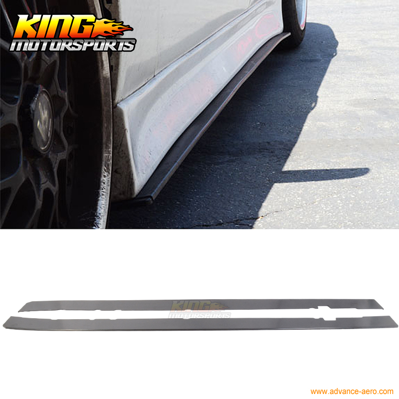 цена на Fit Audi Ford Honda Universal Side Skirts Extension Splitter Bottom Line ABS USA Domestic Free Shipping