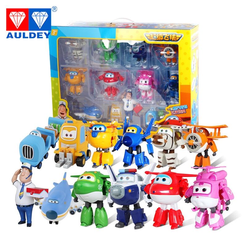 12pcs / set Big 15cm Super Wings High Quality Orijinal TODD PAUL - Oyuncaq fiqurlar