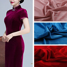 160 100cm Silk Cloth New Thick Velvet Fabric for Dress Cloth Upholstery  Background DIY Cushion 0f1790ab61fe