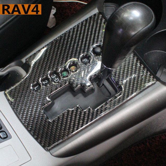 Adapt To Toyota Rav4 Accessories Stickers Emblems Modification Of Carbon Fiber Car Interior Trim 2007 2008 2006 2017 Year