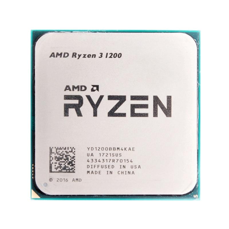 AMD Ryzen 3 1200 R3 1200 Quad Core de 3.1GHz Quad Hilo de procesador de CPU YD1200BBM4KAE hembra AM4-in CPUs from Computer & Office    1
