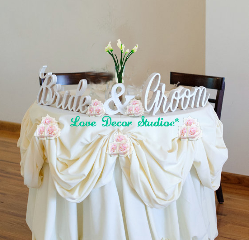 Bride And Groom Wedding Signs For Sweetheart Table Decor Signs Sign