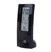 Alarm clock digital display transparent LCD multi-function thermometer electronic alarm