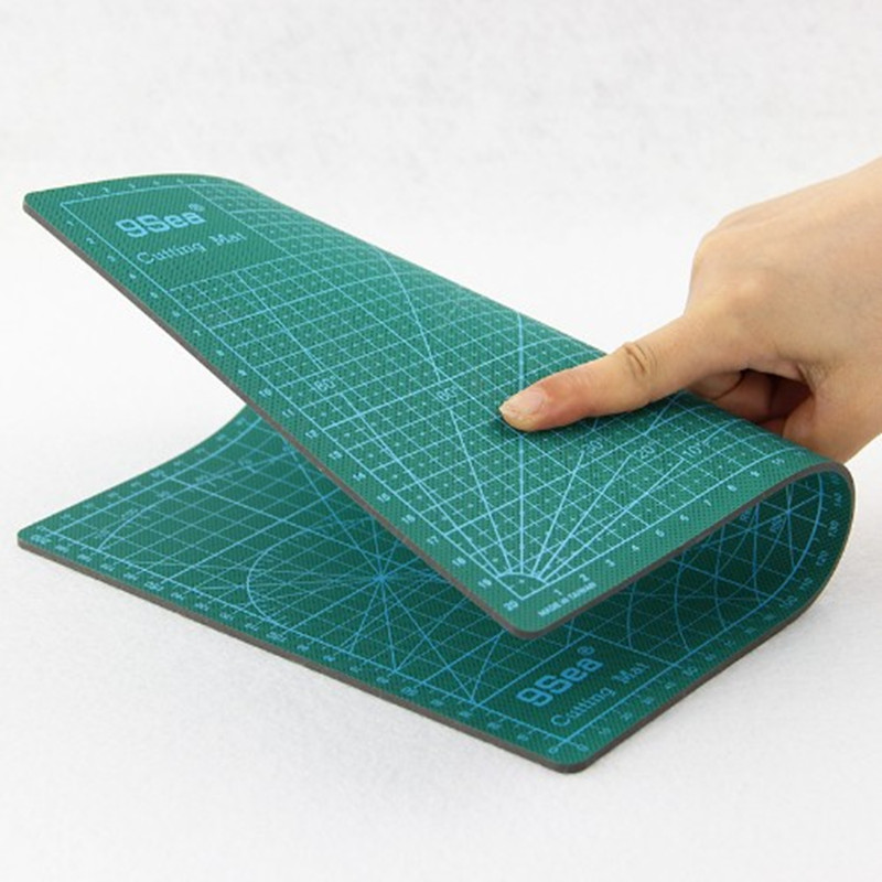 Pvc Rectangle Self Healing Cutting Mat Tool A4 Craft Dark Green 30x22cm For Cutting Plate Engraving Plate Modeling Aids