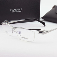Hot Men S Oval Semi Rimless Top Quality Japan Titanium Light Eye Glasses Male Business Luxurious