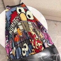 Женская юбка с завышенной талией и цветочным принтом, лето 2019, Корейская элегантная плиссированная юбка трапециевидной формы до колена, шко