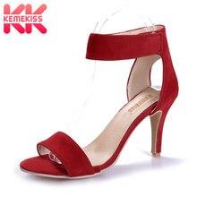 KemeKiss Лето Для женщин Классические танцевальные сандалии на каблуке для сцены шпильках вечерние свадебные туфли Sandalias размеры 33–42 PA00490