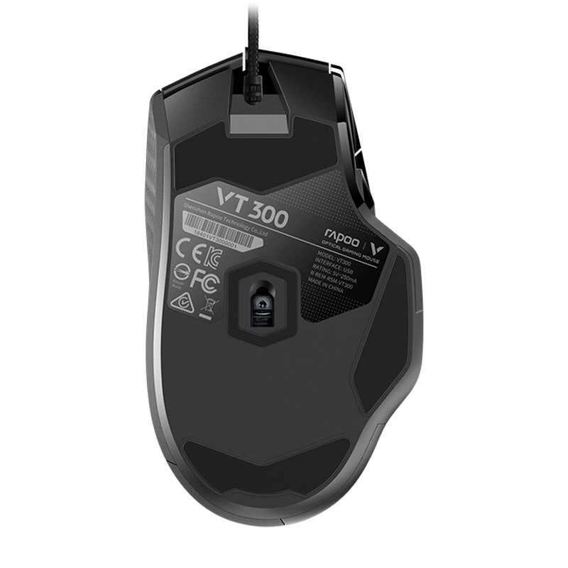 Rapoo VT300 6200DPI IR optyczna przewodowa mysz dla graczy z usb 10 programowalne przyciski światło rgb gra myszy COD na komputer Laptop