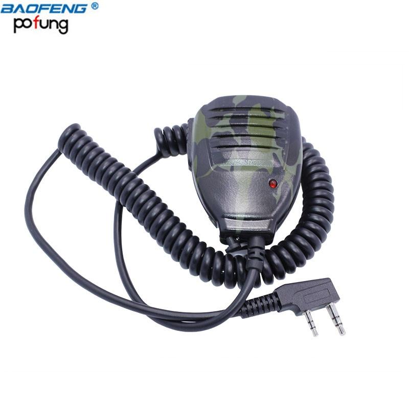 Camouflage Baofeng DM-5R De Poche Microphone Haut-Parleur Mic pour BAOFENG UV-5R 5RA/B/C/D/E UV-3R Plus BF-888S GT-3 Talkie Walkie
