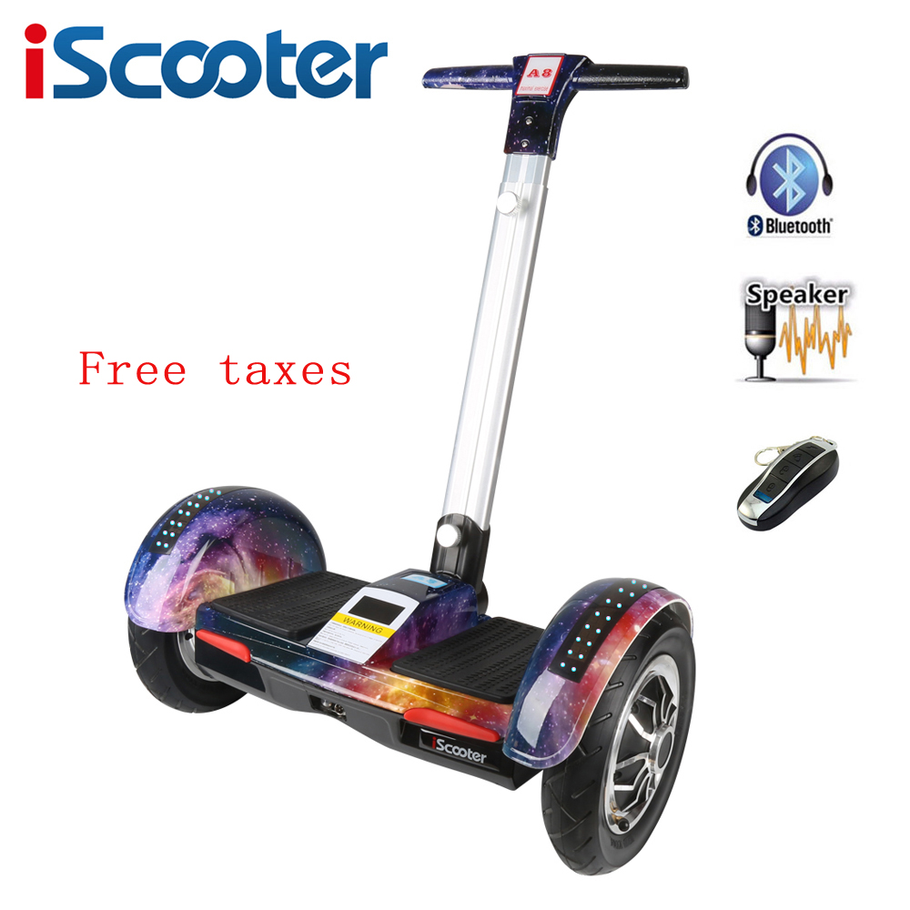 IScooter Hoverboard 10 Inch Two Wheel Electric Skateboard With Bluetooth And Smart Self Balancing Scooter Electric