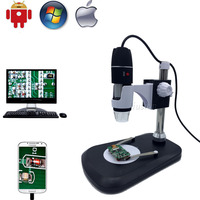USB Digital Microscope Camera 500x 800x 1000x Portable Magnification Endoscope Professional Stand For Samsung Android Mac