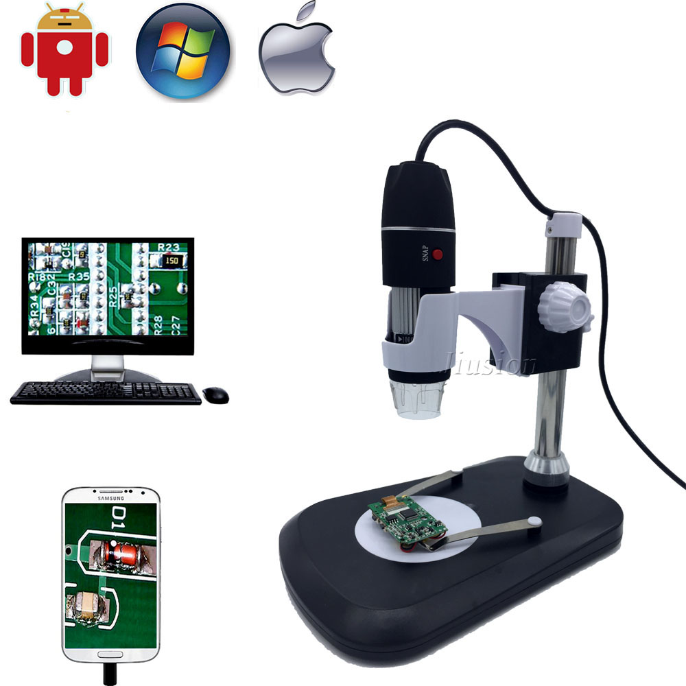 USB Digital OTG Microscope Camera 500x 800x 1000x Portable Magnification Endoscope Stand for Samsung Android Mac Window