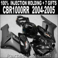 Hot sale injection molded for HONDA CBR 1000 RR 2004 2005 fairings 04 05 fairing plastic cbr1000rr glossy flat black QJF85