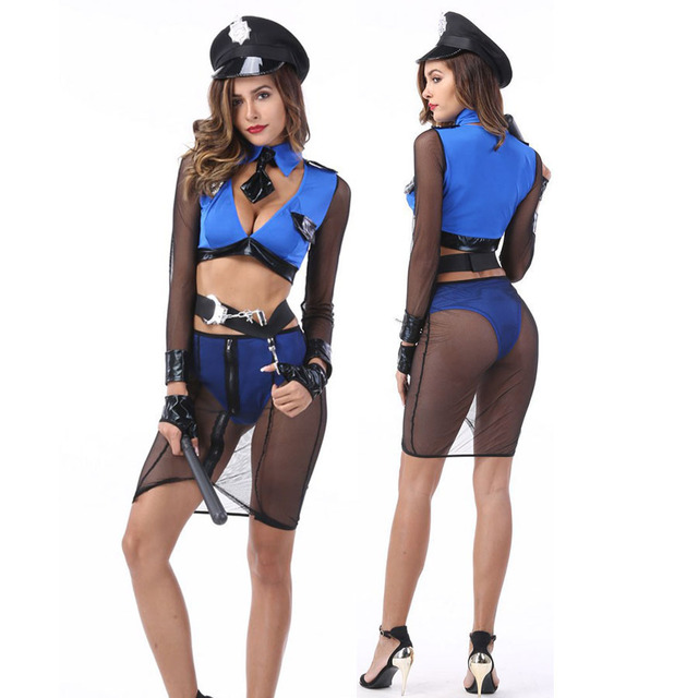 Sexy Police Costume Women Halloween Carnival Costume Cosplay Cop Fishnet Sexy Erotic Lingerie Night Club Police  sc 1 st  AliExpress.com & Sexy Police Costume Women Halloween Carnival Costume Cosplay Cop ...