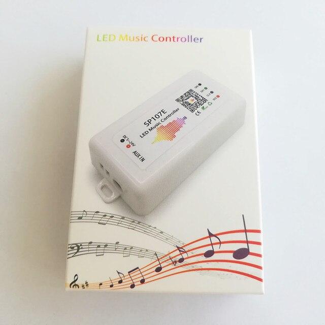 LED Bluetooth SP107E pikseli IC SPI muzyka kontroler LED przez aplikacja na telefon dla WS2812 SK6812 SK9822 RGBW APA102 LPD8806 taśmy DC5 24V