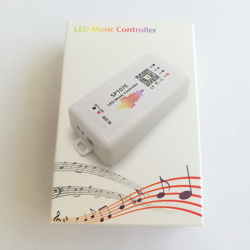 WIFI Bluetooth SP107E Pixel IC SPI Music LED Controller By Phone APP For WS2812 SK6812 SK9822 RGBW APA102 LPD8806 Strip DC5-24V