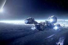 Prometheus sci fi science futuristic space sky stars 3d cg digital art cloth silk art wall poster and prints