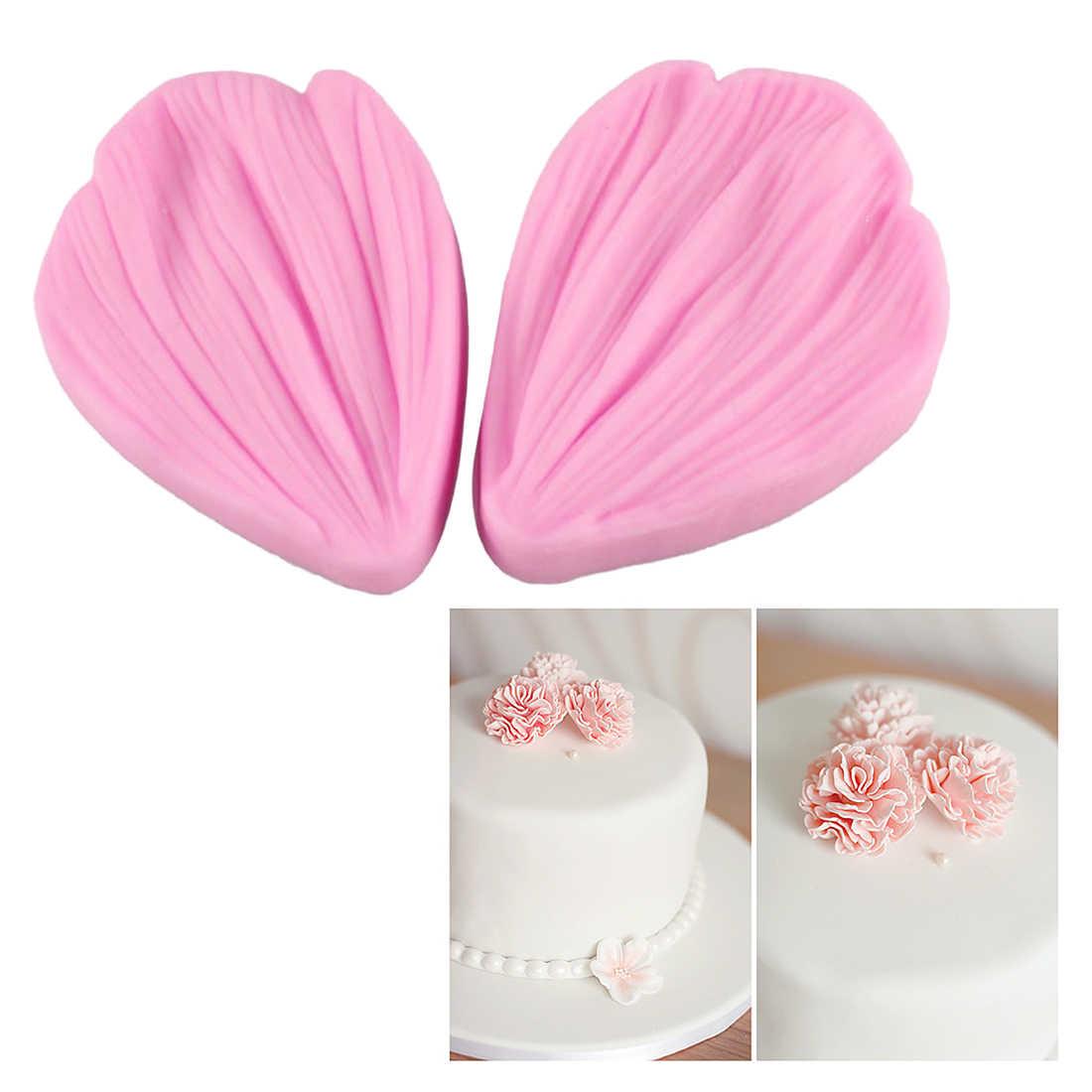ケーキ型 1PC シリコーンデイジーの花の花びらエンボス加工ケーキ金型キッチンキャンディーチョコレート石鹸ステンシルペストリーツールベーキングパン