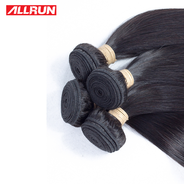 Allrun Straight Brazilian Hair Weave Bundles 12″-28″
