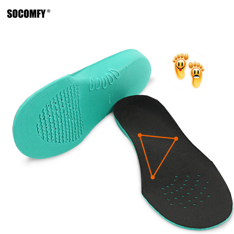 SOCOMFY 4 SIZES EVA Orthopedic Orthotic Arch Support Shoes Insoles Insert Pad For Children Kids With Flat Feet X O Shape Legs expfoot orthotic arch support shoe pad orthopedic insoles pu insoles for shoes breathable foot pads massage sport insole 045