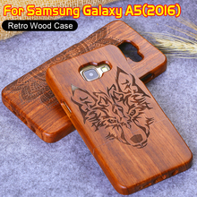 Luxury Wood Case for Samsung Galaxy A5 2016 Retro Wood Natural Carving Design With Durable Phone Case for Samsung Galaxy A5100