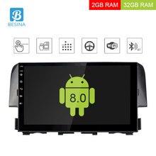 Besina 10.1 pollici Android 8.0 Autoradio Per Honda Civic 2016 2017 Lettore Multimediale di Navigazione GPS 2G + 32G Stereo WIFI RDS Video