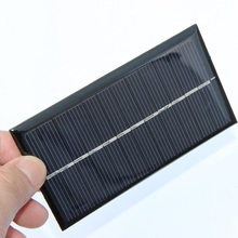 BHUESHUI Wholesale 6V 1W Solar Panel Polycrystalline Solar Cell Module DIY Solar Battery Charger 110*60MM 60pcs Free Shipping