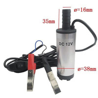 12V Stainless Steel Submersible Fuel Water Oil Diesel Transfer Pump 8500r Min Diameter 16mm Car Camping