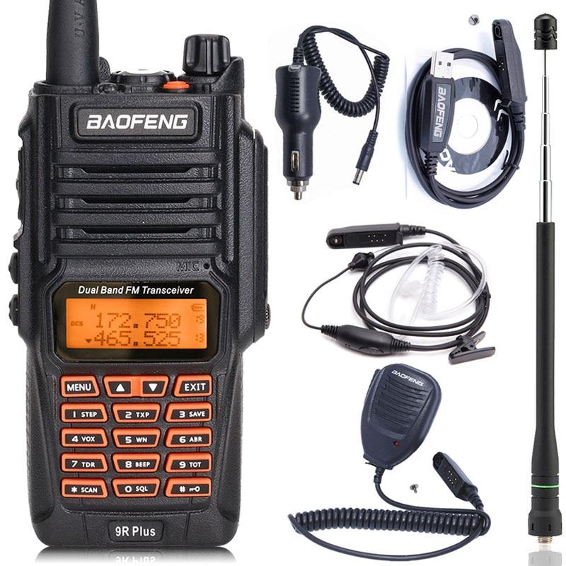 BaoFeng UV-9R Plus Étanche talkie walkie de poche 8 Watts UHF VHF Double Bande IP67 HF Émetteur-Récepteur UV 9R Jambon radio portable