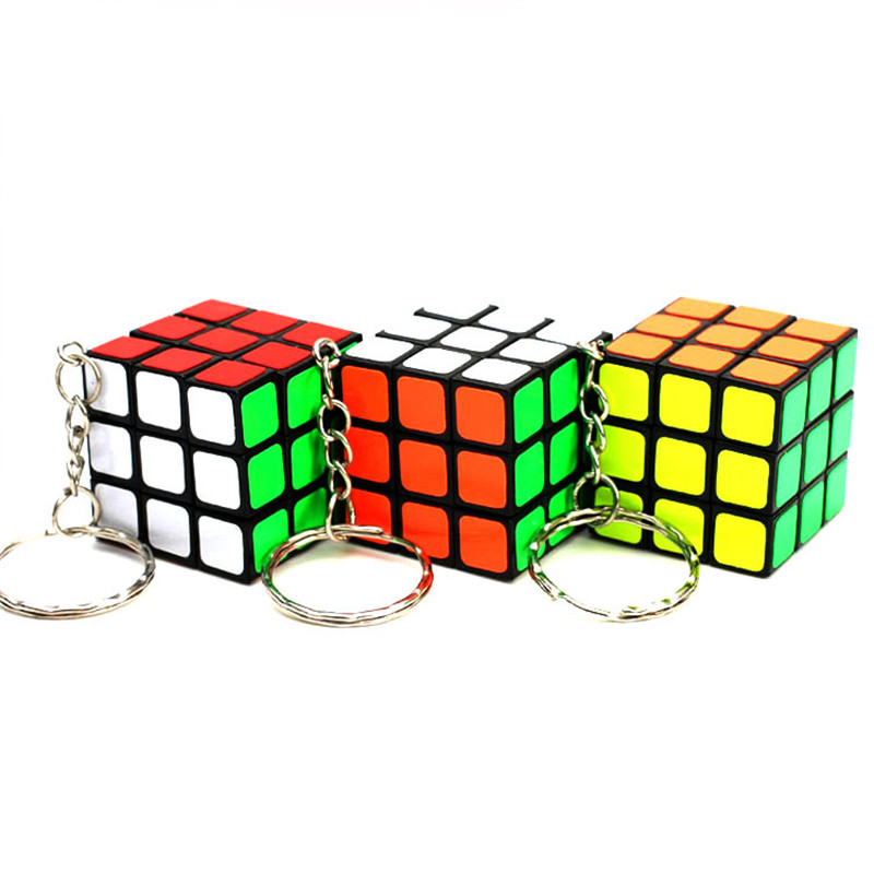 Methodical 3x3x3 Magic Anti-stress Cube Classic Puzzle Keychain Fidget 3d Cubic Educational Toys For Adults&children Birthday Gift With Opp Elegant Appearance Toys & Hobbies Puzzles & Games