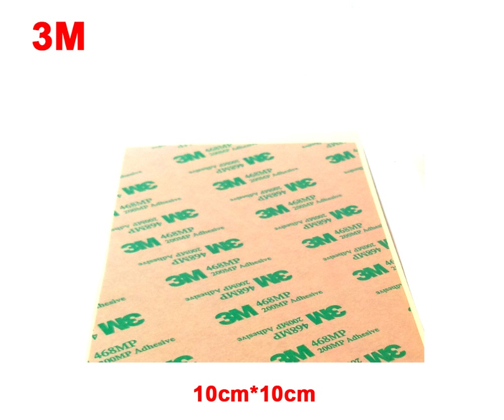 4x 10cm*10cm 3M 468MP 200MP Adhesive Clear Double Sticky Sticker For Phone Repair, Panel Nameplate Bond, Key Button Repair