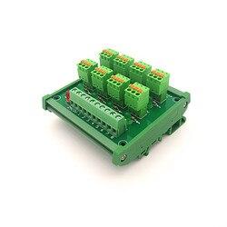 Do montażu na szynie DIN PLC 8 kanał PNP wejście wiosna okablowania IO fotoelektryczny czujnik zbliżeniowy zacisk blok.