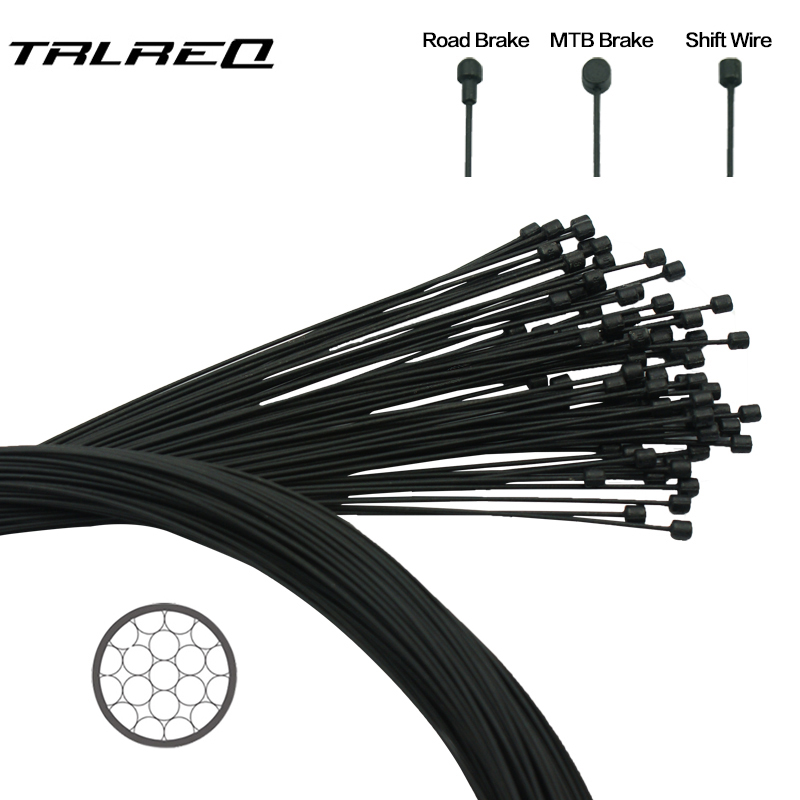 1pc Teflon Coated Wire For Bicycle MTB Road Bike Shifter Brake Front Rear Derailleur Brake Cable 2100mm 1550mm 1700mm 1100mm